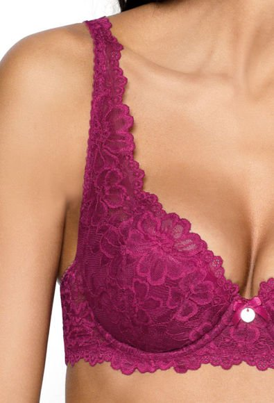 Padded bra burgundy Carmela Big M-053/22