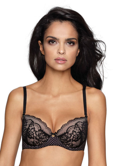 Push-up bra black-beige Amara M-2902/11