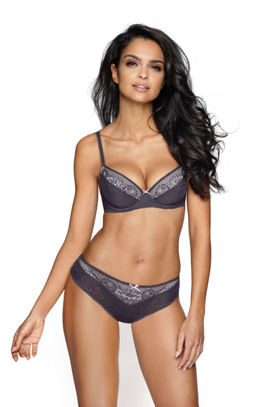 Push-up bra grey Riva M-2922/11