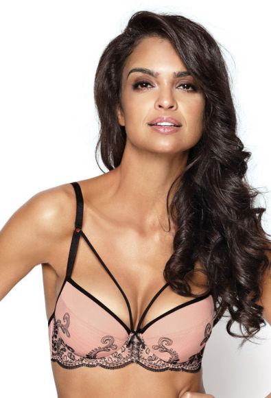 Push-up bra powder pink-black Nikita M-2916/11