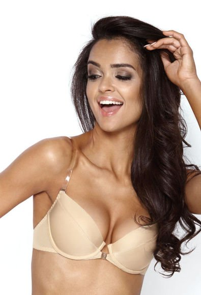 Push-up bra with silicon back beige Paula M-537/1