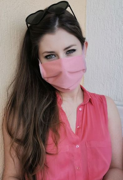 Reusable cotton mask (MO-1) pink