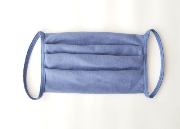 Reusable, protective, cotton mask (MO-1) blue