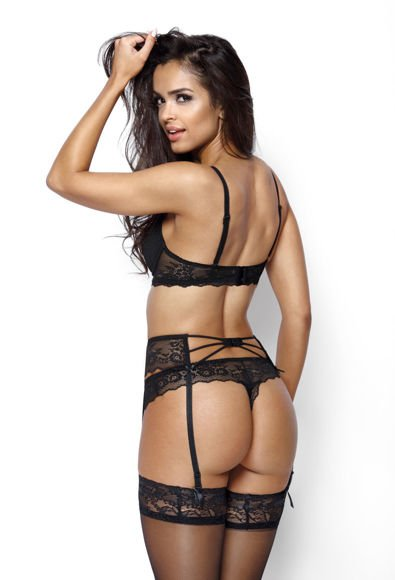 Suspender belt black Heidi P-0135/3