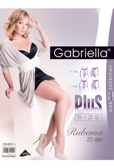 Tights beige Rubensa PLUS size 20 den